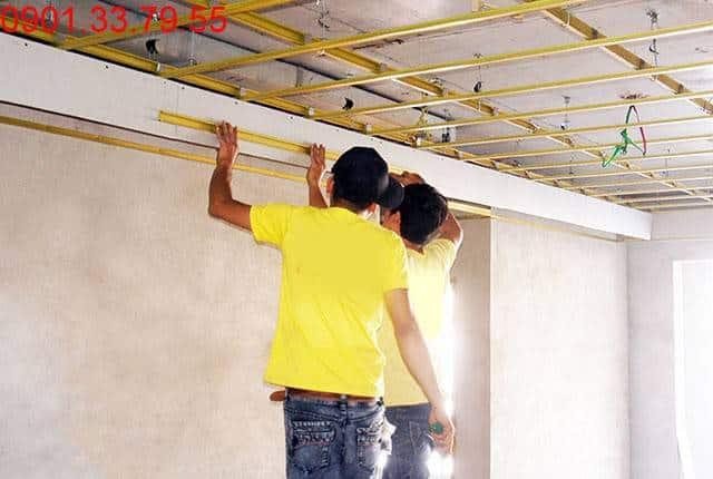 Đang hoàn thiện căn hộ mẫu dự án Sky Center Phổ Quang