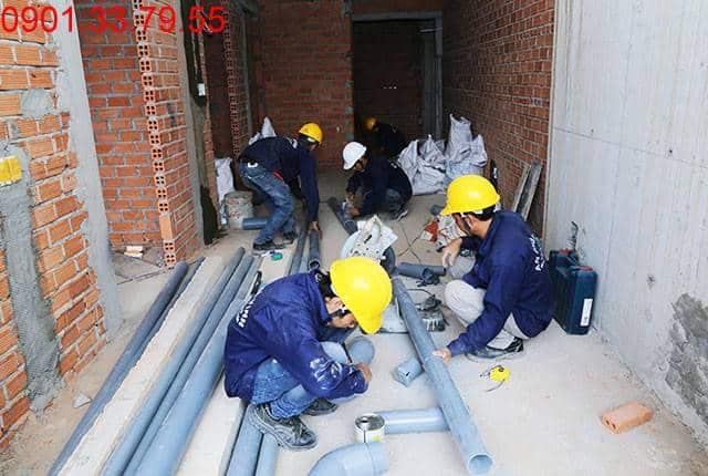 Thi công hệ thống M&E đến tầng 5 Block B dự án chung cư Lavita Garden