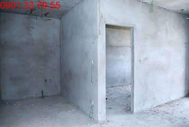 Thi công tô tường bao căn hộ đến tầng 7 - Block D căn hộ Florita HimLam quận 7