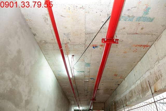 Thi công hệ thống PCCC từ tầng 3 đến tầng 18 - Block D dự án chung cư Florita Hưng Thịnh