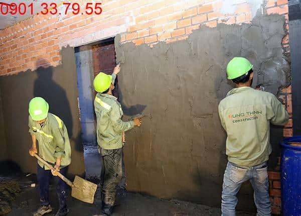 Thi công xây tô tường bên trong căn hộ đến tầng 5 - Block B & C chung cư Florita HimLam quận 7