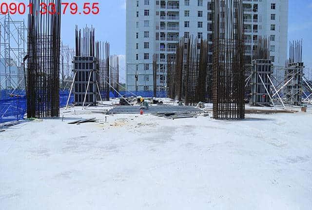 Hoàn thành đổ bê tông sàn tầng 3 - block Southern căn hộ Sài Gòn Mia