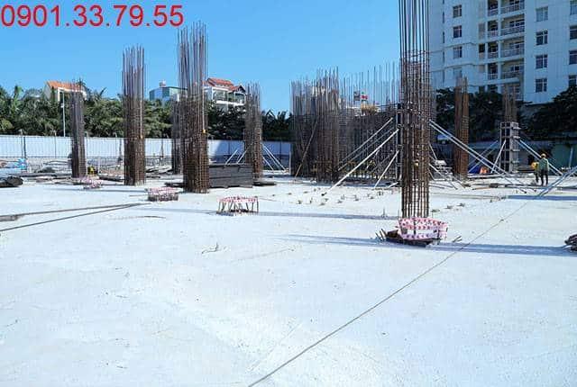 Hoàn thành đổ bê tông sàn tầng 1 - block Southern căn hộ Sài Gòn Mia