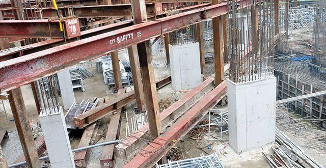 Thi công cột sàn tầng B2 - block Southern Saigon Mia Trung Sơn