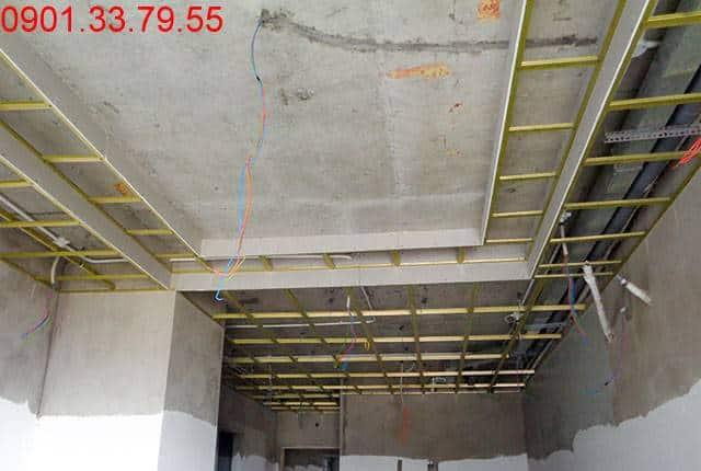 Đóng trần thạch cao từ tầng 5 đến tầng 22 block A; tầng 7 đến tầng 22 block B căn hộ Vũng Tàu Melody