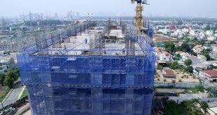 Thi công cốt thép tầng 16 Block A dự án Lavita Garden