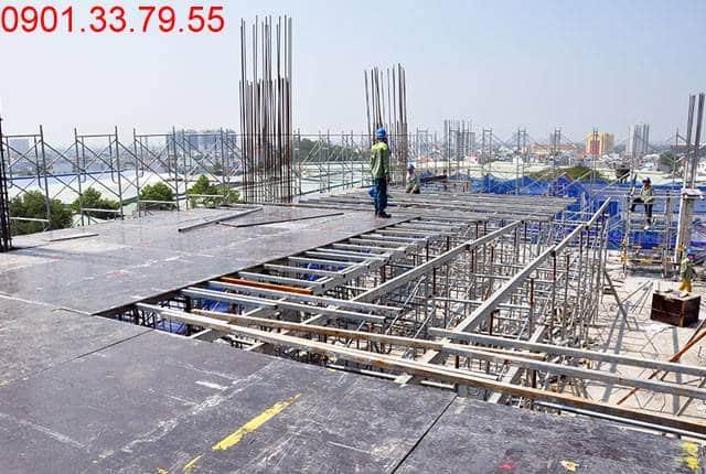 Thi công cốp pha sàn tầng 7 - Block A dự án 9 View Apartment