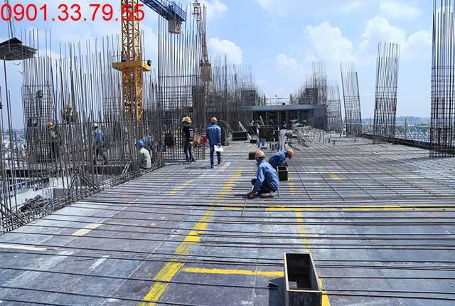 Thi công cốp thép sàn tầng 10 - Block A dự án 9 View Apartment