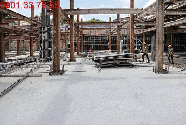 Hoàn thành đổ bê tông 50% sàn tầng hầm B2 block A, B căn hộ Moonlight Residence