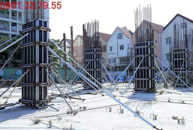 Thi công cột sàn tầng 2 - block Southern chung cư Sài Gòn Mia