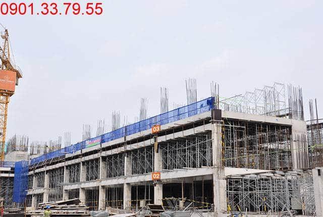 Thi công cốt thép sàn tầng 3 Block B dự án 9 View Apartment