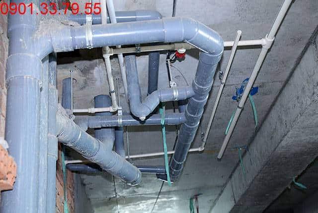 Thi công hệ thống cấp thoát nước đến tầng 11 - Block A dự án Florita