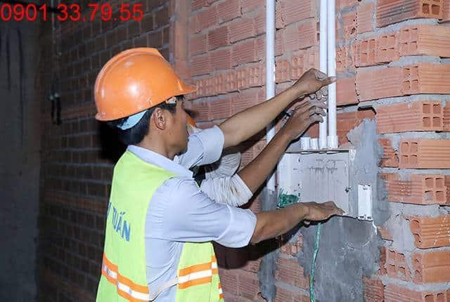 Thi công hệ thống M&E đến tầng 9 - Block A dự án Florita