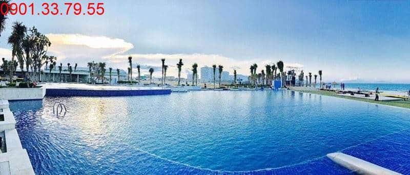 Hoàn thành hồ bơi nước mặn dự án Cam Ranh Mystery Villas