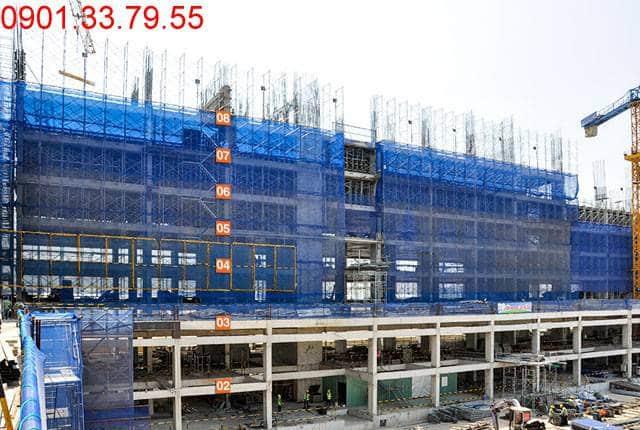 Thi công cột sàn tầng 9 - Block B 9 View quận 9