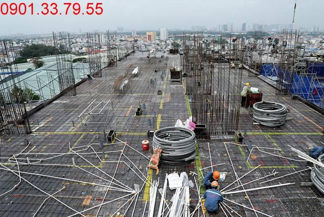 Thi công cốt thép sàn tầng 13 Block A 9 View quận 9