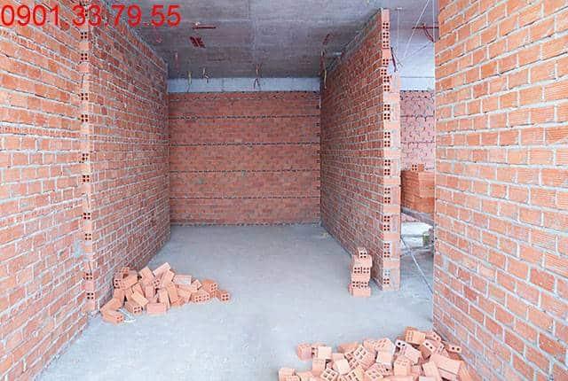 Thi công tường bao căn hộ sàn tầng 6 block A, B chung cư Moonlight Park View