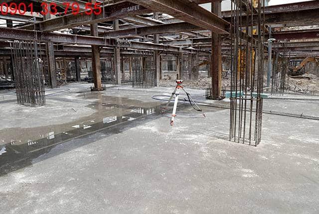 Hoàn thành đổ bê tông 50% sàn tầng hầm B2 block A, B Moonlight Residence Thủ Đức