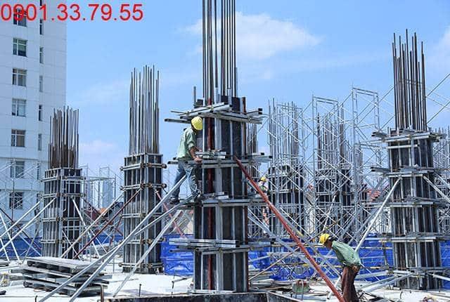 Thi công cột sàn tầng 4 - block Southern chung cư Sài Gòn Mia