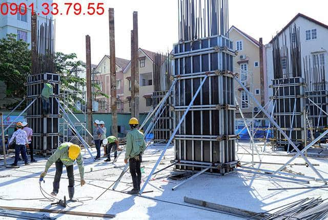 Thi công cột sàn tầng 2 - block Southern căn hộ chung cư Sài Gòn Mia
