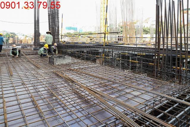 Thi công cốt thép sàn tầng 1 - block Southern Saigon Mia Hưng Thịnh