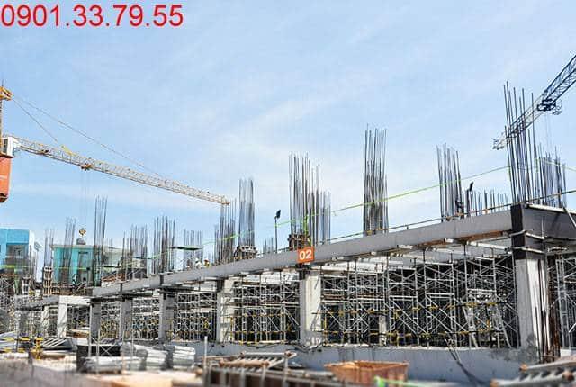 Thi công cột sàn tầng 3 - Block B 9 View quận 9