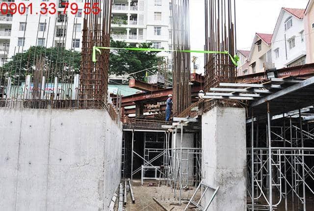 Thi công cột sàn tầng B2 - block Southern du an Saigon Mia