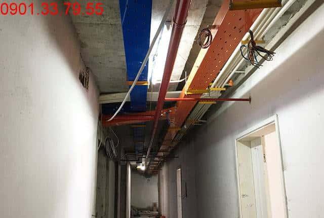 Lắp đặt hệ thống PCCC từ tầng 5 đến tầng 25 block A; tầng 5 đến tầng 25 block B căn hộ chung cư Vũng Tàu Melody