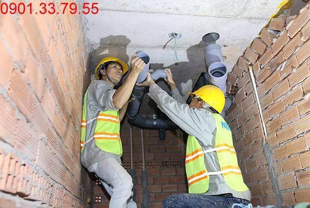 Thi công hệ thống M&E đến tầng 9 - Block A chung cư Florita