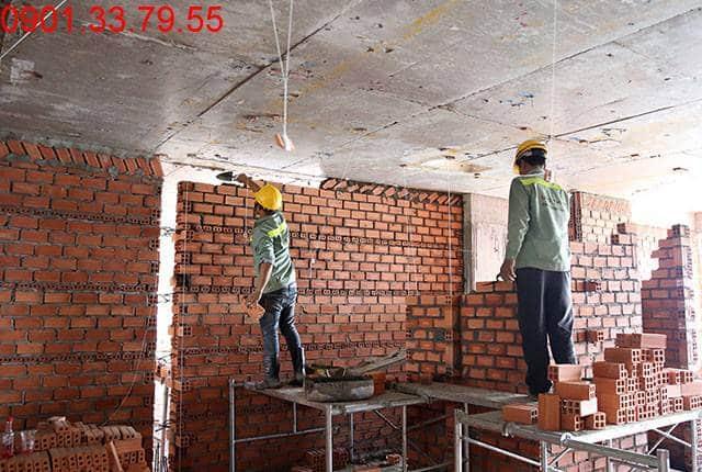 Xây tường bao căn hộ tầng 11 Block A căn hộ Lavita Garden Thủ Đức