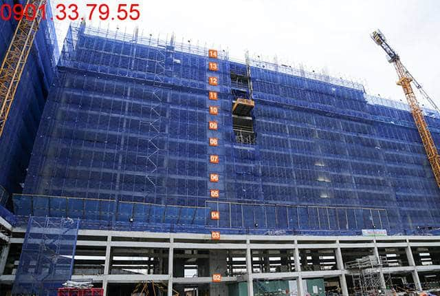 Đổ bê tông sàn tầng 14 Block B căn hộ 9 View quận 9