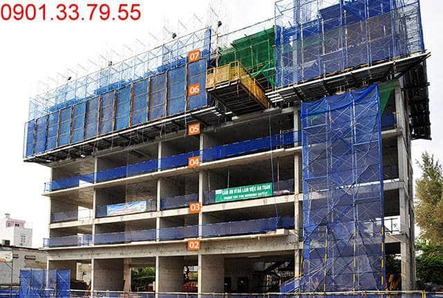 Chuẩn bị đổ bê tông sàn tầng 7 block C dự án Monlight Park View Hưng Thịnh