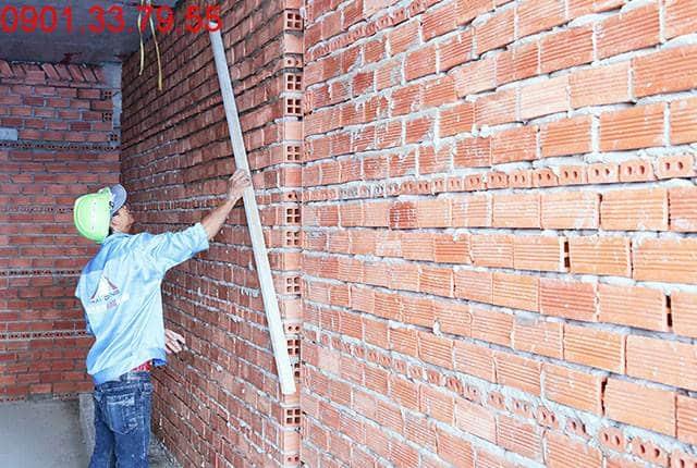 Thi công tường bao căn hộ sàn tầng 6 block A, B căn hộ chung cư Moonlight Park View