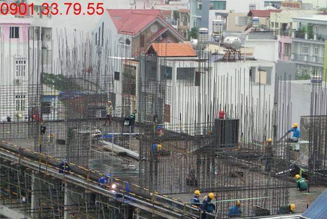 Thi công sàn kỹ thuật block A,B dự án Monlight Park View Hưng Thịnh