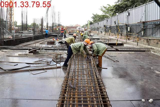 Thi công cốt thép sàn tầng 1 - block Southern chung cư Saigon Mia