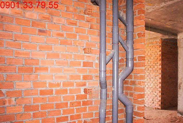 Đã hoàn thành thi công hệ thống nước thoát block A, B căn hộ Sky Center Phổ Quang