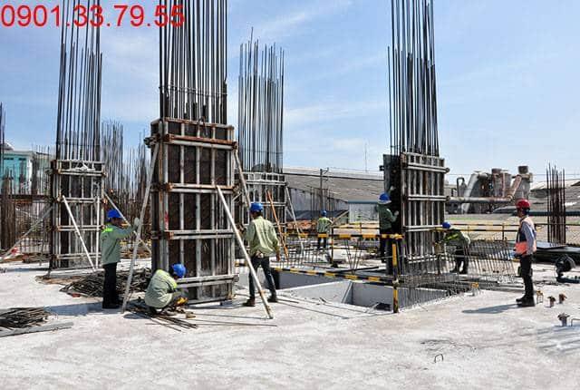 Thi công cột sàn tầng 3 - Block B căn hộ 9 View quận 9