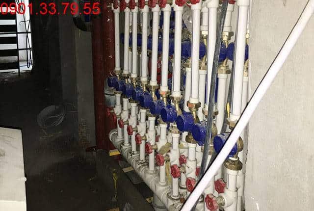 Lắp đặt hệ thống cấp nước từ tầng 5 đến tầng 25 block A; tầng 5 đến tầng 25 block B Vũng Tàu Melody Hưng Thịnh