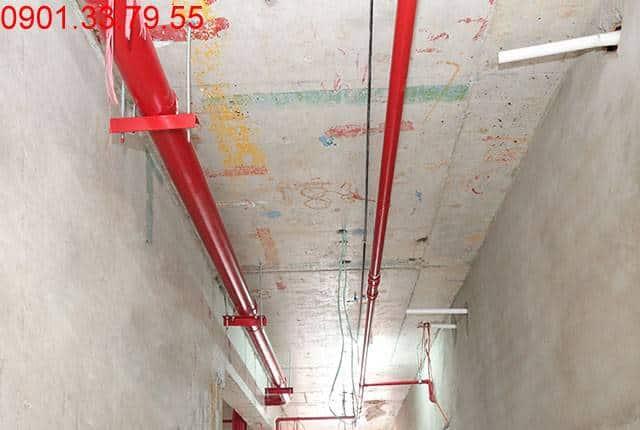 Thi công hệ thống PCCC từ tầng 3 đến tầng 18 - Block A chung cư florita quận 7
