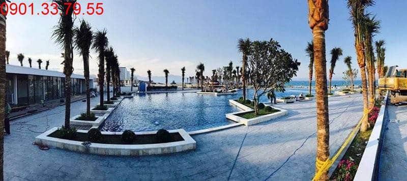 Hoàn thành cảnh quan xung quanh hồ bơi nước mặn Cam Ranh Mystery Villas Hưng Thịnh (tt)