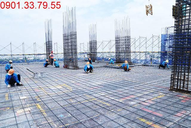 Thi công cốt thép tầng 16 Block A dự án Lavita Garden Thủ Đức