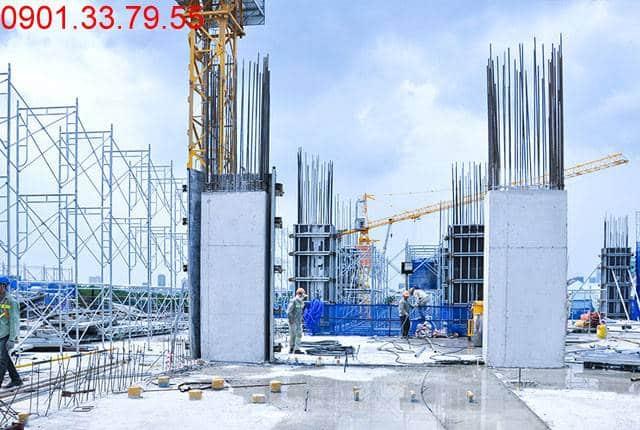 Thi công cột sàn tầng 2 - block Central can ho Saigon Mia Trung Sơn