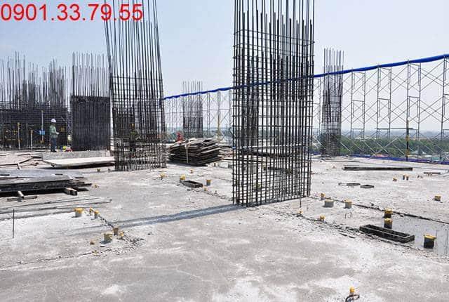 Thi công cột sàn tầng 9 - Block B dự án 9 View quận 9