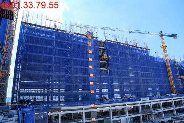 Thi công cột sàn tầng 12 - Block B dự án 9 View quận 9