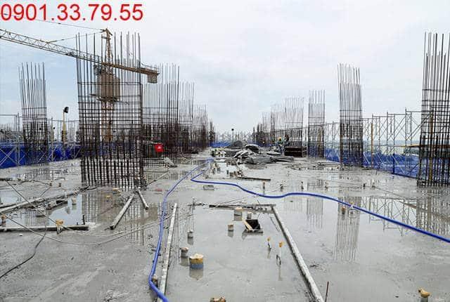 Đổ bê tông sàn tầng 14 Block B dự án 9 View quận 9