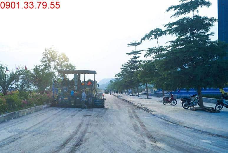 Công tác thi công thảm nhựa đường N2 Golden Bay Hưng Thịnh