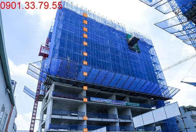 Hoàn thành đổ bê tông sàn tầng 13 block C Moonlight Park View Bình Tân