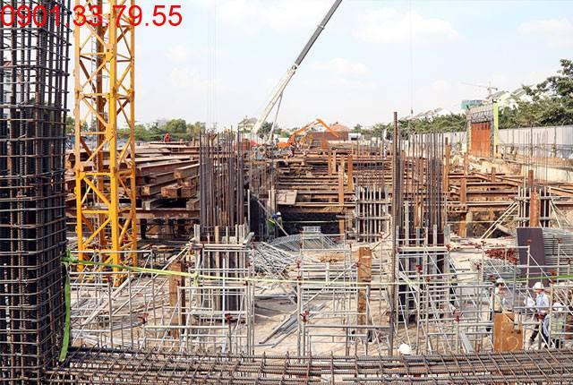 Thi công sàn tầng hầm 2 - block Centra căn hộ Saigon Mia Trung Sơn