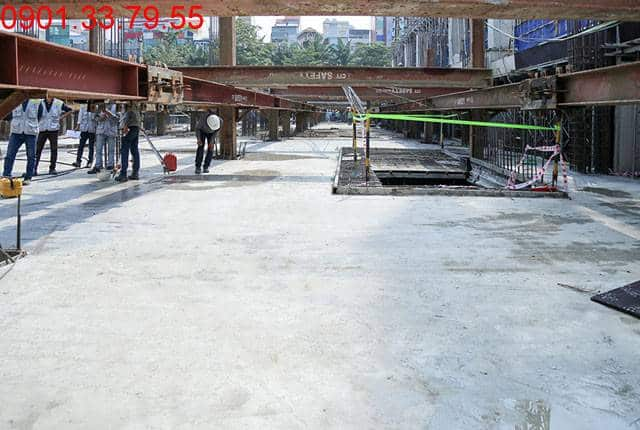 Đổ bê tông sàn tầng hầm 1 - block Central căn hộ Saigon Mia Trung Sơn