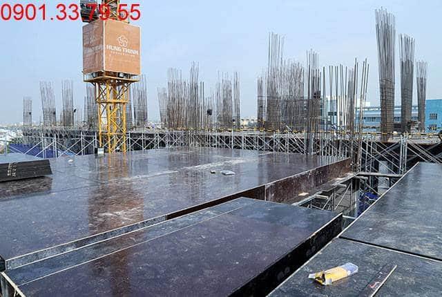 Thi công cốp pha sàn tầng 6 Block B dự án 9 View quận 9